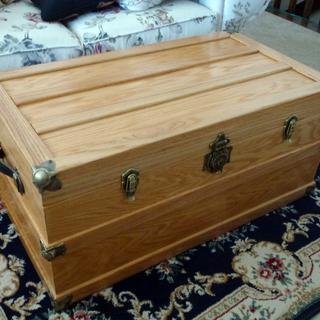 Oak steamer trunk