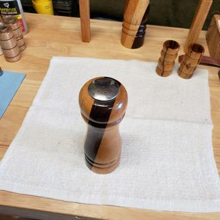 Wood turned Salt Shaker View 1
