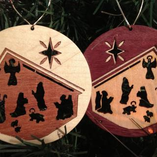 Purpleheart Christmas Ornament