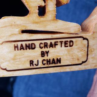Custom brand on pine wood