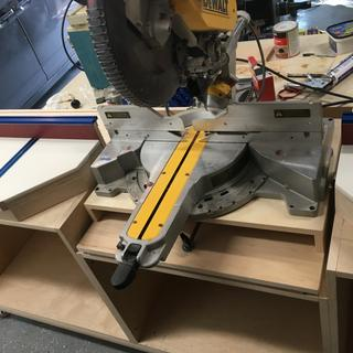 Sled and saw installed