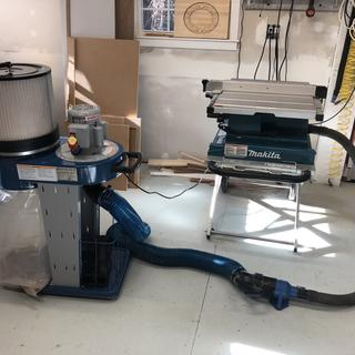 Table Saw Hooked Up