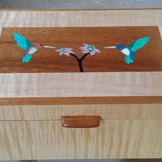 humming birds inlay