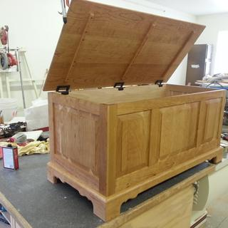 Cherry Hope Chest Aromatic Cedar bottom & Trays
