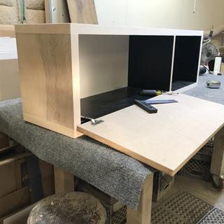 Drop lid cabinet