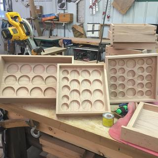 Jewelry trays of different sizes