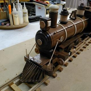 WOOD BURNING LOCOMOTIVE BILL ADAMS YUMA AZ
