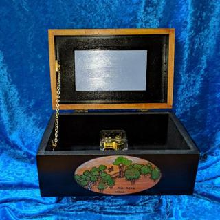 Front view of custom made music box with Rockler Decorative Chain