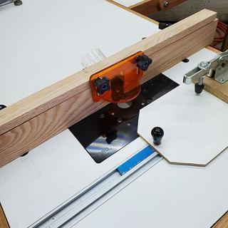 Rockler Router Pro Plate with Bench Dog dual miter t-slot and accessory track.