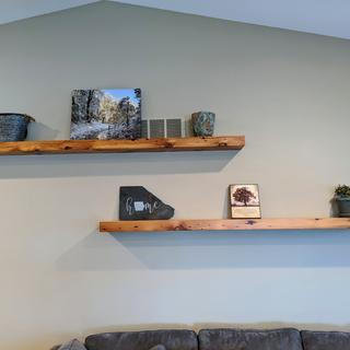 I used 5 supports for each 7' long shelf and they worked great!