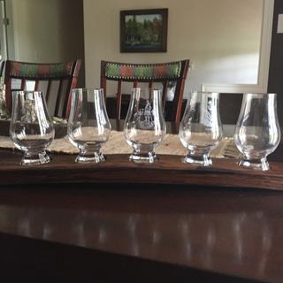 Scotch glass holder.