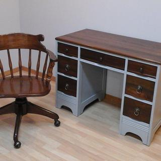 Also touched up this banker's chair to match desk