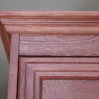 Crown molding and mitered corner of molding