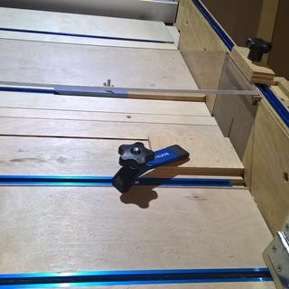 "T-Track by Rockler made my crosscut sled safe! T-Track includes slot for T-Bolt or 1/4"" hex bolt."