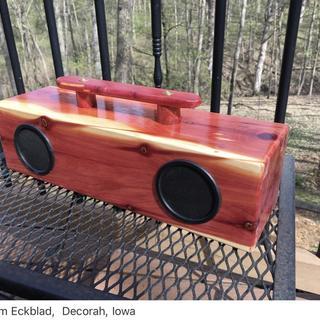 Eastern Red Cedar Stereo Speakers