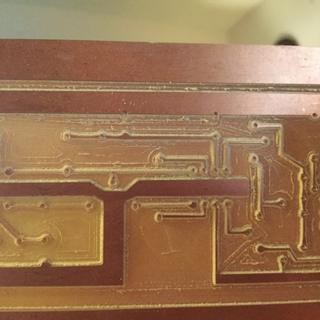 My brother gave me a pc board to carve out the circuit.....see next photo...
