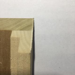 cut using nicked blade
