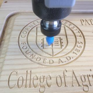 Graduation Gift Plaque Logo and Text cut with 60 Degree Sign Bit
