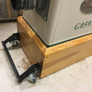 "Added casters to my ""lifted"" base for my Jointer."