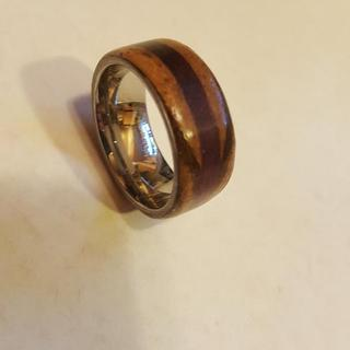 Wood Ring Zebrawood and Purple Heart