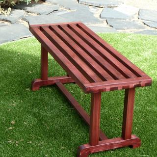 Poplar bench with Cherry stain.