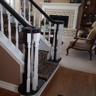 Redo of oak staircase using General Finishes Java Gel Stain