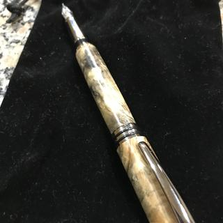 Fountain pen using buckeye burl
