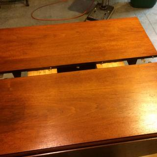 1955 Drexel Biscayne Dining table refinish 1 topped with Arm-R-Seal First ever attempt