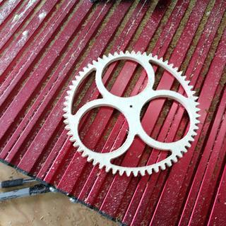 Clock gear cut the the CNC Shark HD4