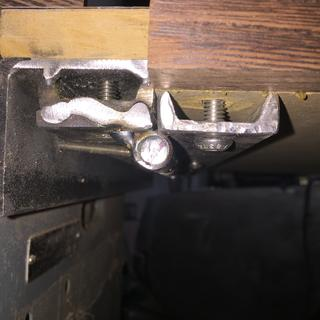 Gap between cast iron saw table and folding table needed edge band to complete project