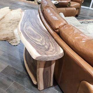 Acacia live edge sofa table by Greenwood Artisans, LLC Phoenix Az.