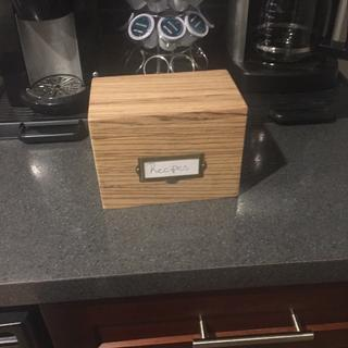 Valentine's Day gift, a zebra wood recipe box. Coincidentally, an ingredient in the recipe for love.