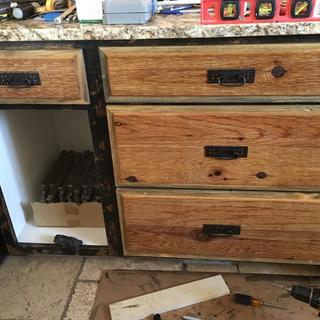 North bank of drawers