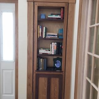 Bookcase moves easily and holds the weight well.