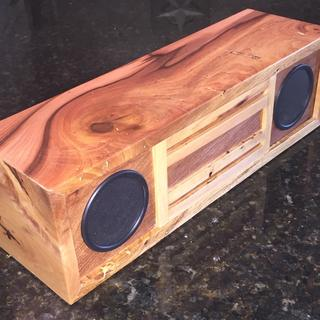 Spalted hickory with mesquite front and back