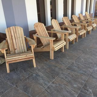 These 20 chairs were made for an organization in Granada nicaragua, for their spacious porch.