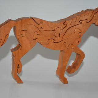 Horse in oak