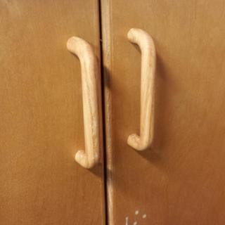 Replacement for nob style pull on reclaimed cabinet