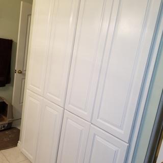 New bathroom cabinet doors.
