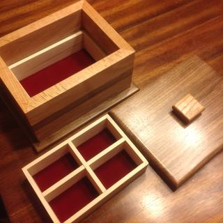 Red Oak and Walnut Trinket Box
