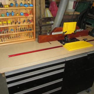 Home made router table.