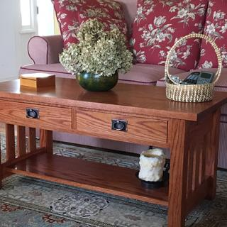 These pulls were the perfect finishing touch for this mission style coffee table l just made.
