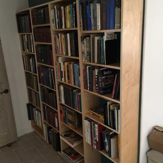 Maple plywood bookcases with maple edge banding