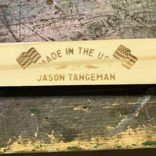My first attempt at using my branding iron.
