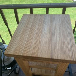 Butcher block grilling table