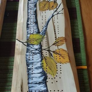 birch tree scenery painted by a friend