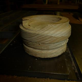 Oak bowl blank with blow out
