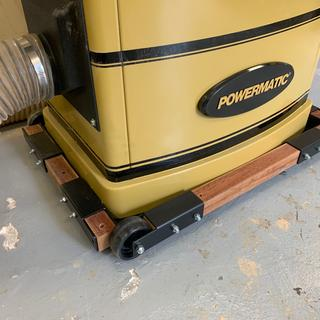 Base with 580 lb Powermatic jointer
