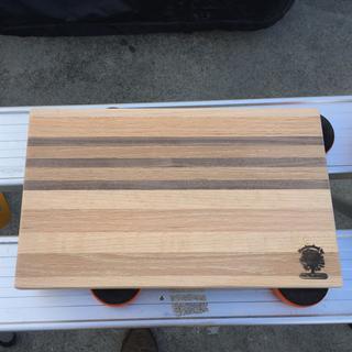 Incorporating the walnut into a custom cutting board.