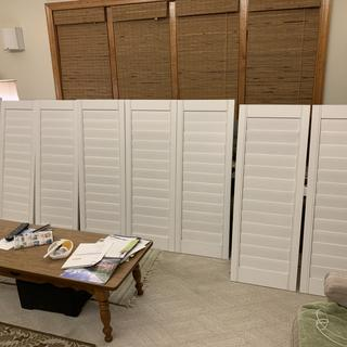 8 shutters destined for my son's house. A great gift for your family.
